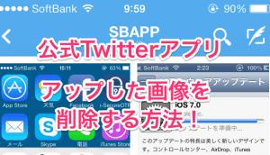 【アプリ】公式Twitterアプリでアップした画像を削除する方法