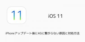 【iOS11】iPhoneアップデート後に4Gに繋がらない原因と対処方法