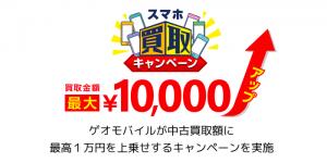 【iPhone】ゲオモバイルが中古買取額に最高1万円を上乗せするキャンペーンを実施
