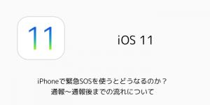 【iOS11】iPhoneで緊急SOSを使うとどうなる?通報〜通報後までの流れについて
