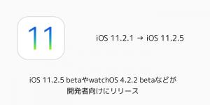 【beta】iOS 11.2.5 betaやwatchOS 4.2.2 betaなどが開発者向けにリリース