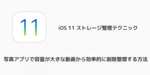 【iPhone】写真アプリで容量が大きな動画から効率的に削除整理する方法