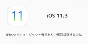 【iOS11.3】iPhoneでミュージックを音声ありで画面録画する方法