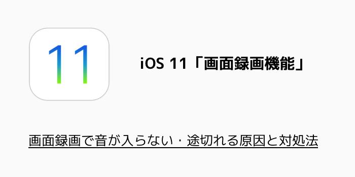 【iPhone】画面録画で音が入らない・途切れる原因と対処法