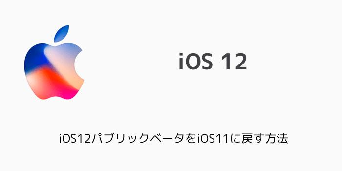 【iPhone】iOS12パブリックベータをiOS11に戻す方法
