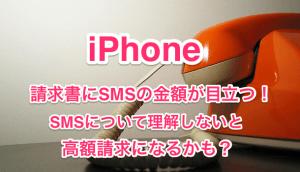 【iPhone】請求書にSMSの金額が目立つ!SMSとMMSを見極める方法