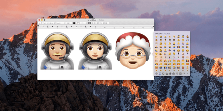 img via:Apple releases macOS 10.12.2 beta 2 with new emoji : 9To5Mac