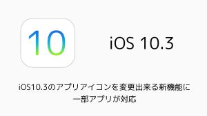 【iPhone】iOS10.3のアプリアイコンを変更出来る新機能に一部アプリが対応