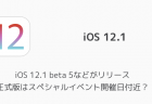 【iPhone】iOS 12.1 beta 5などがリリース 正式版はスペシャルイベント開催日付近?
