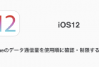 【iOS12】iPhoneのデータ通信量を使用順に確認・制限する方法