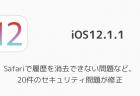 【iOS12.1.1】Safariで履歴を消去できない問題など、20件のセキュリティ問題が修正