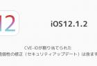 【iOS12.1.2】CVE-IDが割り当てられた脆弱性の修正(セキュリティアップデート)は含まず