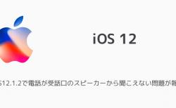 【iPhone】iOS12.1.2で電話が受話口のスピーカーから聞こえない問題が報告