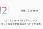 【iPhone】iOS 12.2 beta 3などがリリース ロック画面の充電済み表示バグが改善