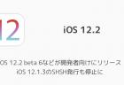 【iPhone】iOS 12.2 beta 6などが開発者向けにリリース iOS 12.1.3のSHSH発行も停止に