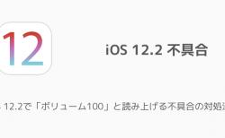 【iPhone】iOS 12.2で「ボリューム100」と読み上げる不具合の対処法