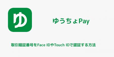 【ゆうちょPay】取引暗証番号をFace IDやTouch IDで入力する方法