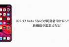 【iPhone】iOS 13 betaでアプリが起動できない、アップデートを避ける理由など