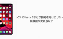 【iPhone】iOS 13 beta 5などが開発者向けにリリース 新機能や変更点など