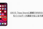 【iPhone】iOS13「App Storeに接続できません」がモバイルデータ通信で生じる不具合