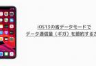 【iPhone】iOS13の省データモードでデータ通信量(ギガ)を節約する方法