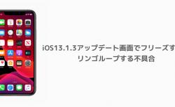 【iPhone】iOS13.1.3アップデート画面でフリーズする、リンゴループする不具合