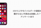 【iPhone】iOS13.2でモバイルデータ通信が繋がらない不具合は改善した?アンケートあり
