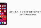 【iPhone】iOS13でメールにフラグが勝手に付く不具合、フラグの解除方法など