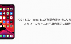 【iPhone】iOS 13.3.1 beta 1などが開発者向けにリリース スクリーンタイムの不具合修正に期待