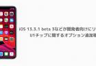 【iPhone】iOS 13.3.1 beta 3などが開発者向けにリリース U1チップに関するオプション追加等