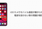 【iPhone】iOS13.4でモバイル通信が繋がらない、電波を拾わない等の問題が報告