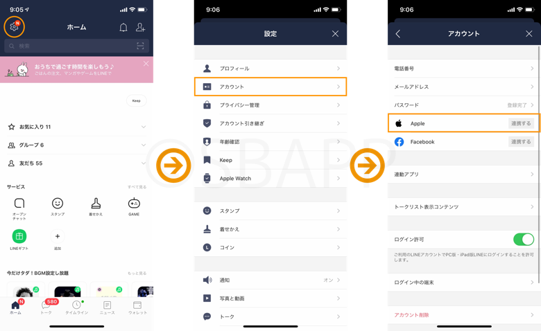 LINEのApple ID連携