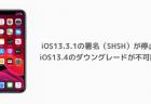 【iPhone】iOS13.3.1の署名(SHSH)が停止、iOS13.4のダウングレードが不可能に