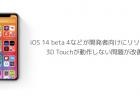 【iPhone】iOS 14 beta 4などが開発者向けにリリース、3D Touchが動作しない問題が改善