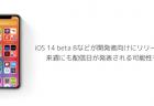 【iPhone】iOS 14 beta 8などが開発者向けにリリース、来週にも配信日が発表される可能性も