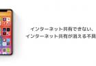 【iOS14】インターネット共有できない、インターネット共有が消える不具合