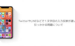 【iOS14】TwitterやLINEなどで1文字目の入力反映が遅い、引っかかる問題について