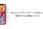 iOS14.2.1にアップデートできない、表示されない理由について