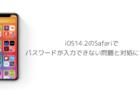 【iPhone】iOS14.2のSafariでパスワードが入力できない問題と対処について