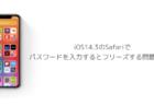 【iPhone】iOS14.3のSafariでパスワードを入力するとフリーズする問題と対処