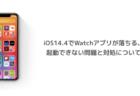 【iPhone】iOS14.4でWatchアプリが落ちる、起動できない問題と対処について