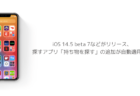 【iPhone】iOS 14.5 beta 7などがリリース、探すアプリ「持ち物を探す」の追加が自動適用済み
