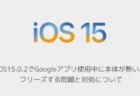 【iPhone】iOS15.0.2でGoogleアプリ使用中に本体が熱い、フリーズする問題と対処について
