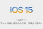 【iOS15.1】アップデート内容と変更点の詳細、不具合や評判について