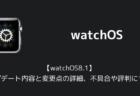 【watchOS8.1】アップデート内容と変更点の詳細、不具合や評判について